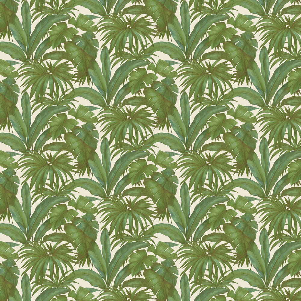 Giungle Wallpaper - Green - by Versace