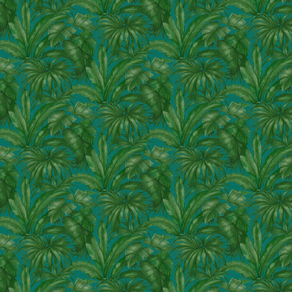 Versace Giungla Green / Teal Wallpaper - Product code: 96240-6