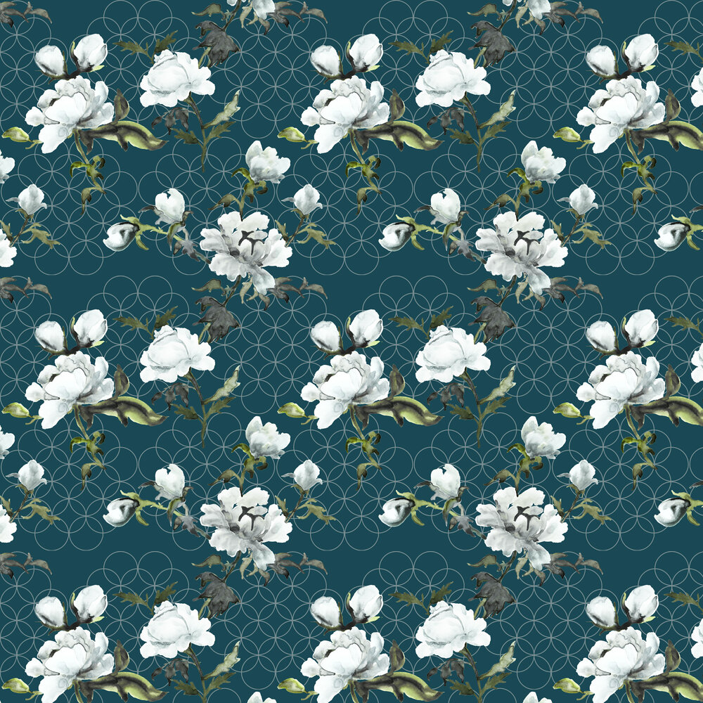 Petronella Hall Gypsy Peacock Wallpaper - Product code: G-WP