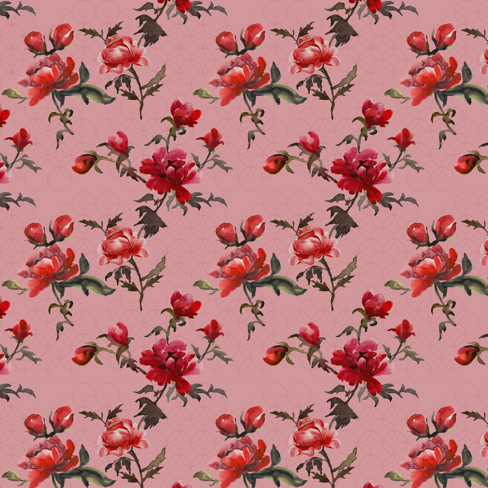 Petronella Hall Gypsy Rose Wallpaper - Product code: G-WR