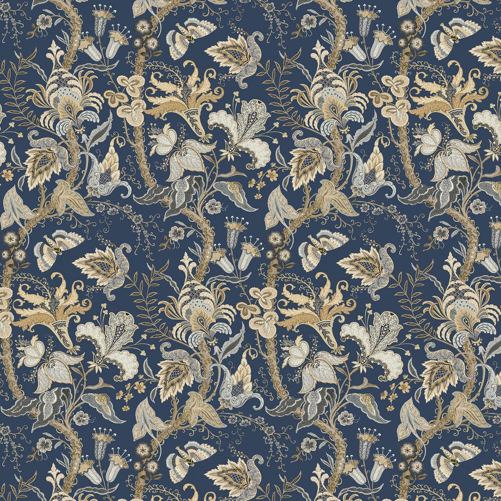 Linwood Uhura Indigo Wallpaper - Product code: LW064/003
