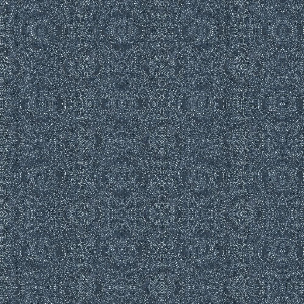 Linwood Labyrinth Indigo Wallpaper - Product code: LW065/004