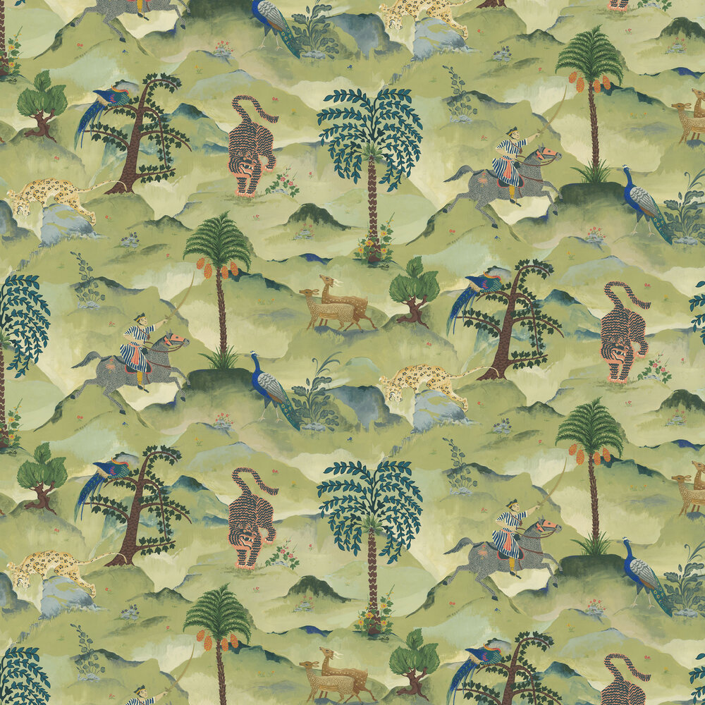 Linwood Aesop Green Wallpaper - Product code: LW067/001