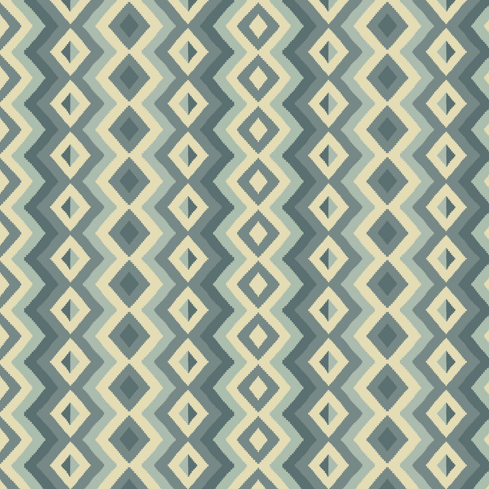 Linwood Amala Blue Wallpaper - Product code: LW068/003