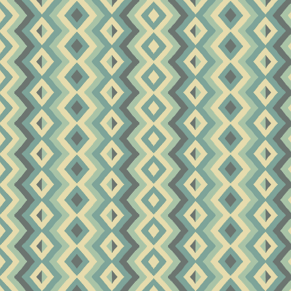 Linwood Amala Teal Wallpaper - Product code: LW068/004