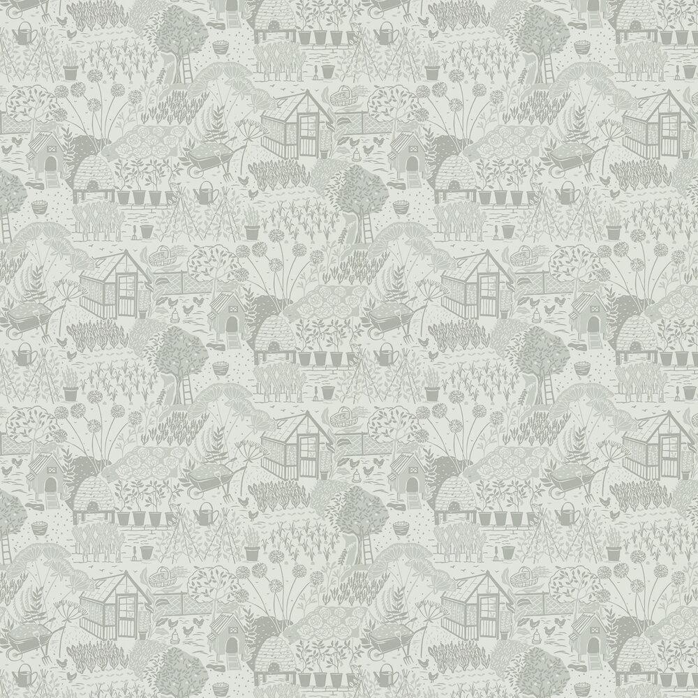 The Allotment Wallpaper - Dove - by Sanderson