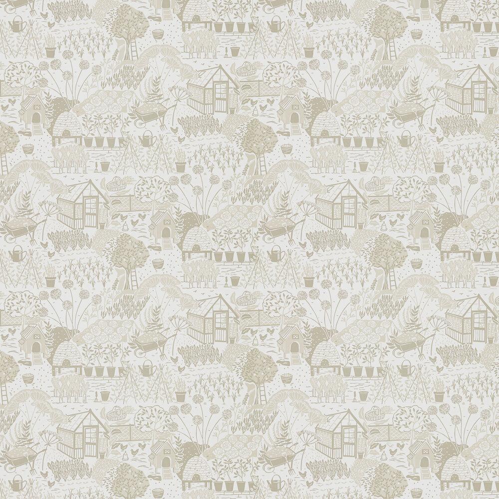The Allotment Wallpaper - Linen - by Sanderson