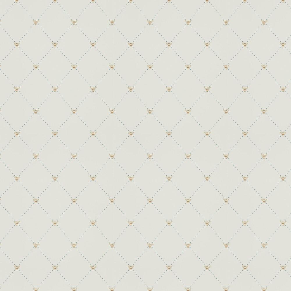 Nectar Wallpaper - Copper / Denim - by Sanderson