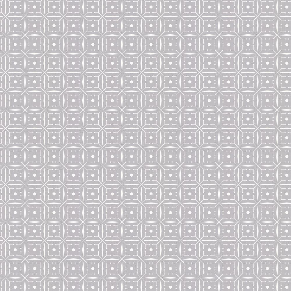 Layla Faye Domino Silvery Moon Grey Wallpaper - Product code: LF1046