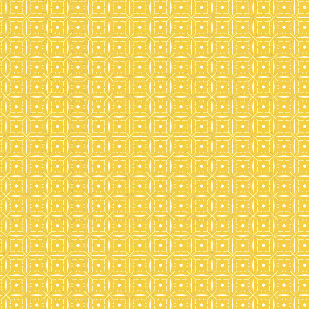 Domino Wallpaper - Buttercup Yellow - by Layla Faye