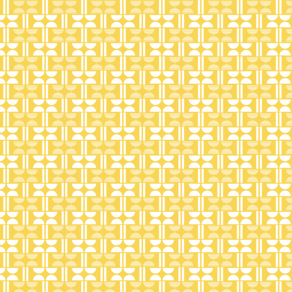 Layla Faye Napier Bright Yellow Wallpaper - Product code: LF1049