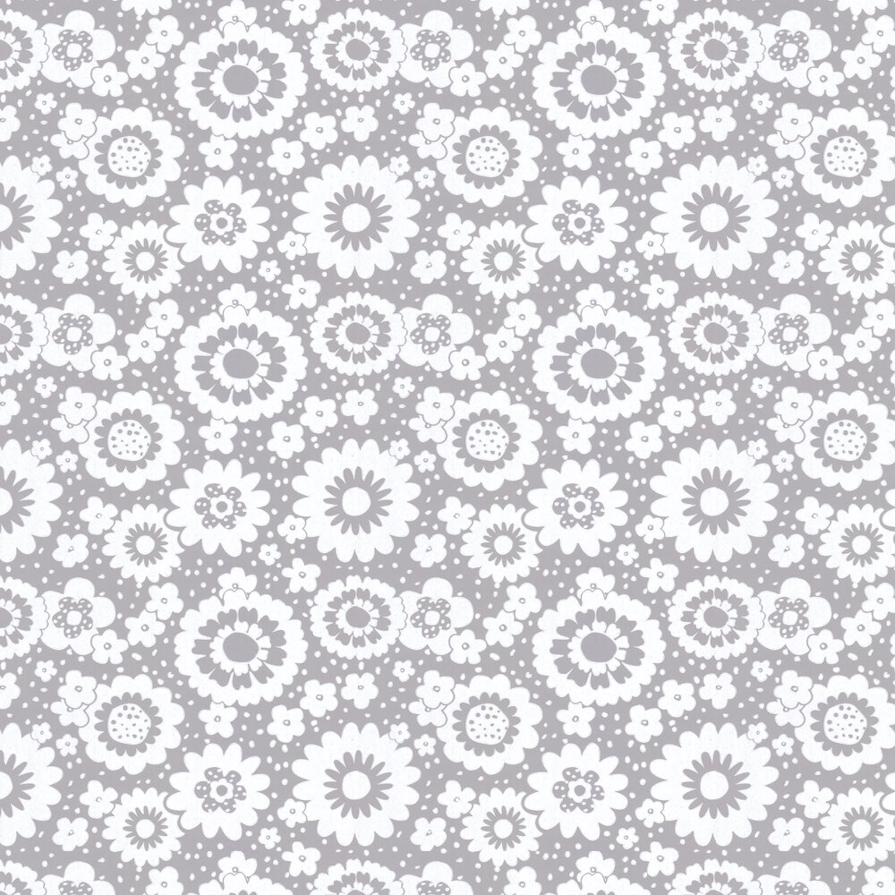 Layla Faye Mod Meadows Misty Grey Wallpaper - Product code: LF1053