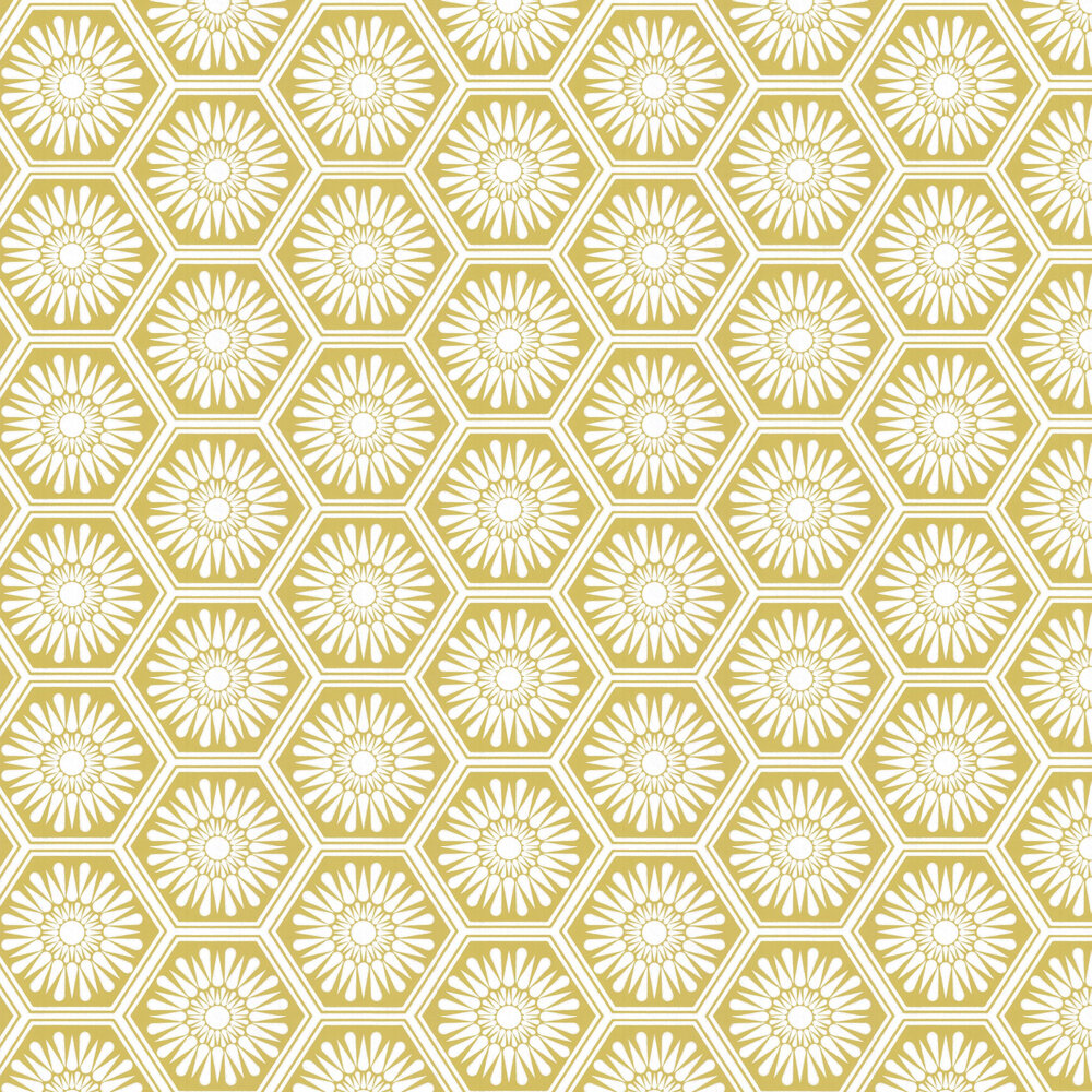Hex Wallpaper - Olive - by Layla Faye