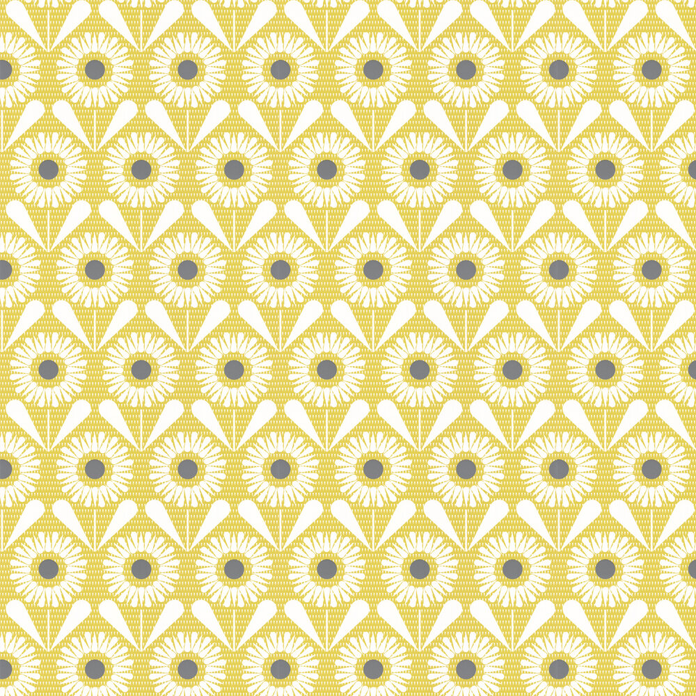 Layla Faye Sunny Flower Olive Wallpaper - Product code: LF1061