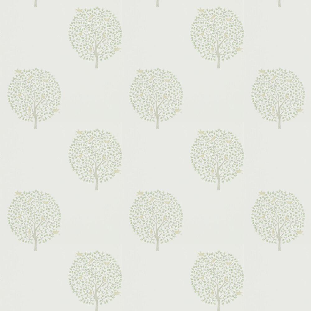 Bay Tree Wallpaper - Celadon / Flint - by Sanderson