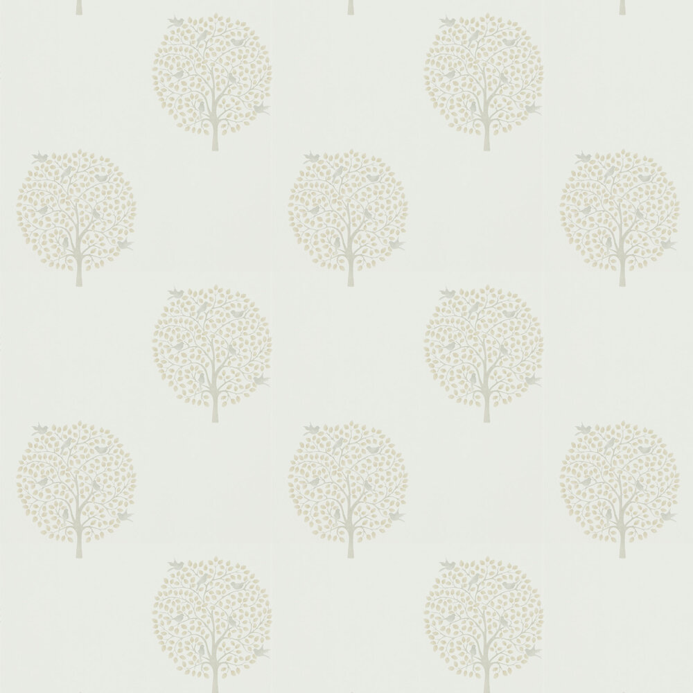 Bay Tree Wallpaper - Linen / Dove - by Sanderson
