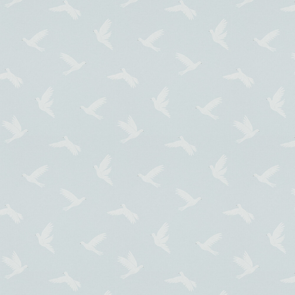Paper Doves Wallpaper - Mineral - by Sanderson