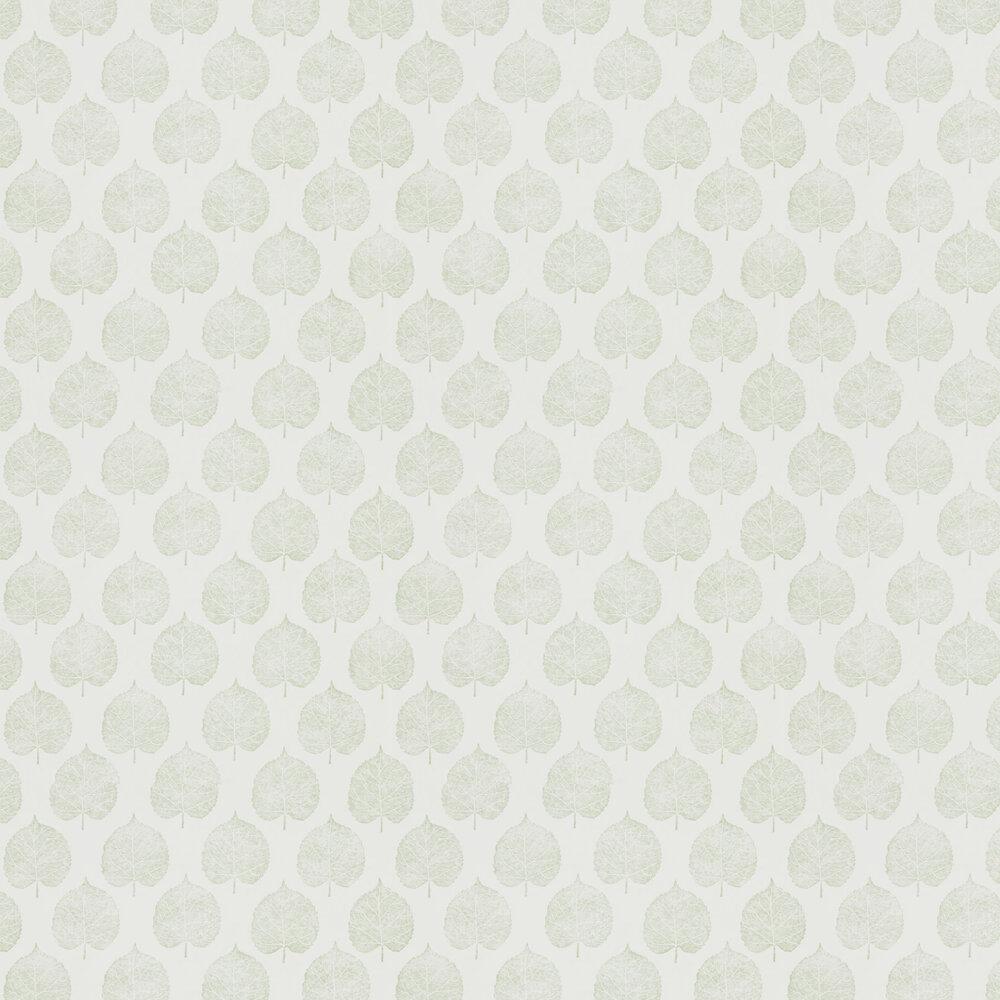Lyme Leaf Wallpaper - Celadon - by Sanderson