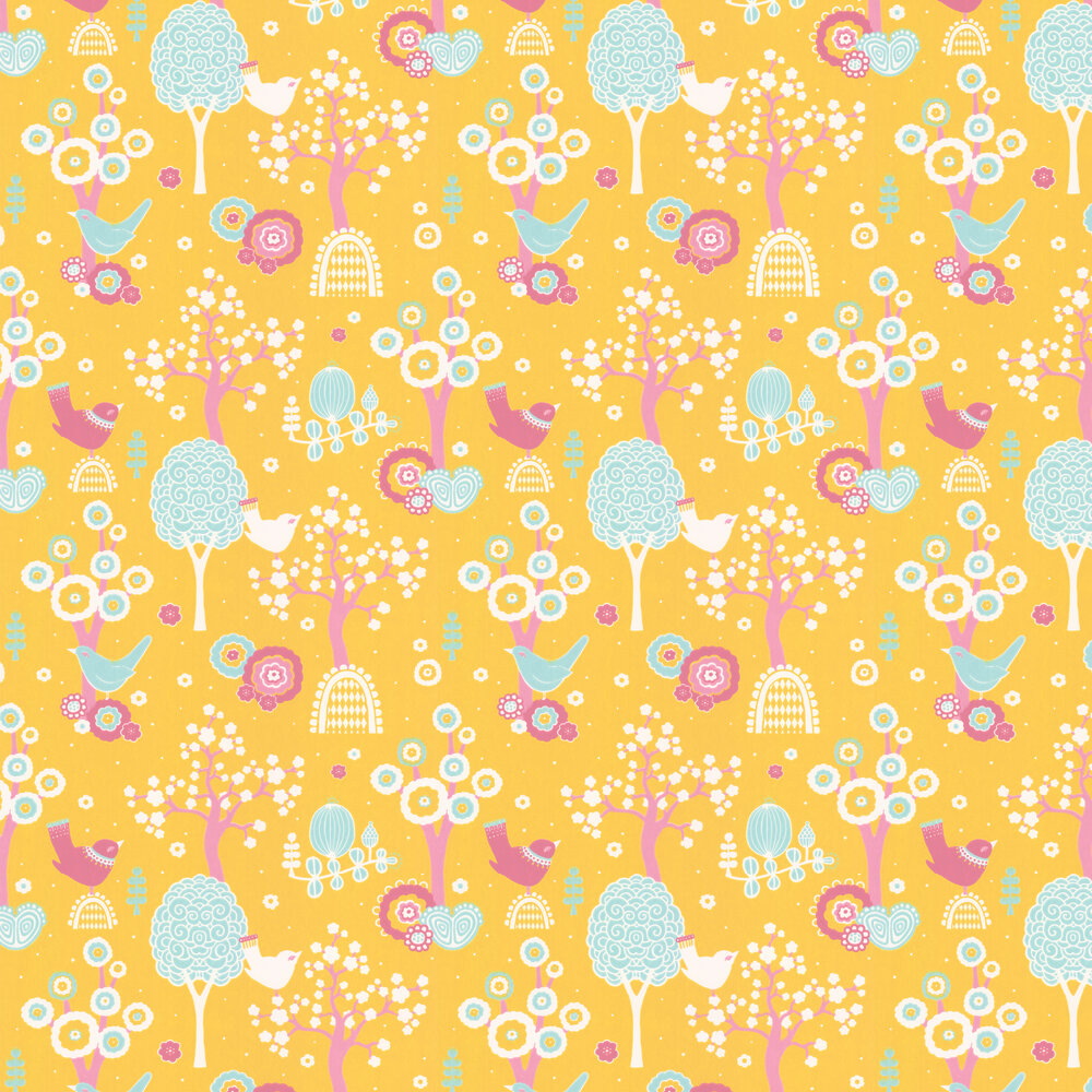 Majvillan Cherry Valley Yellow Wallpaper - Product code: 102-01
