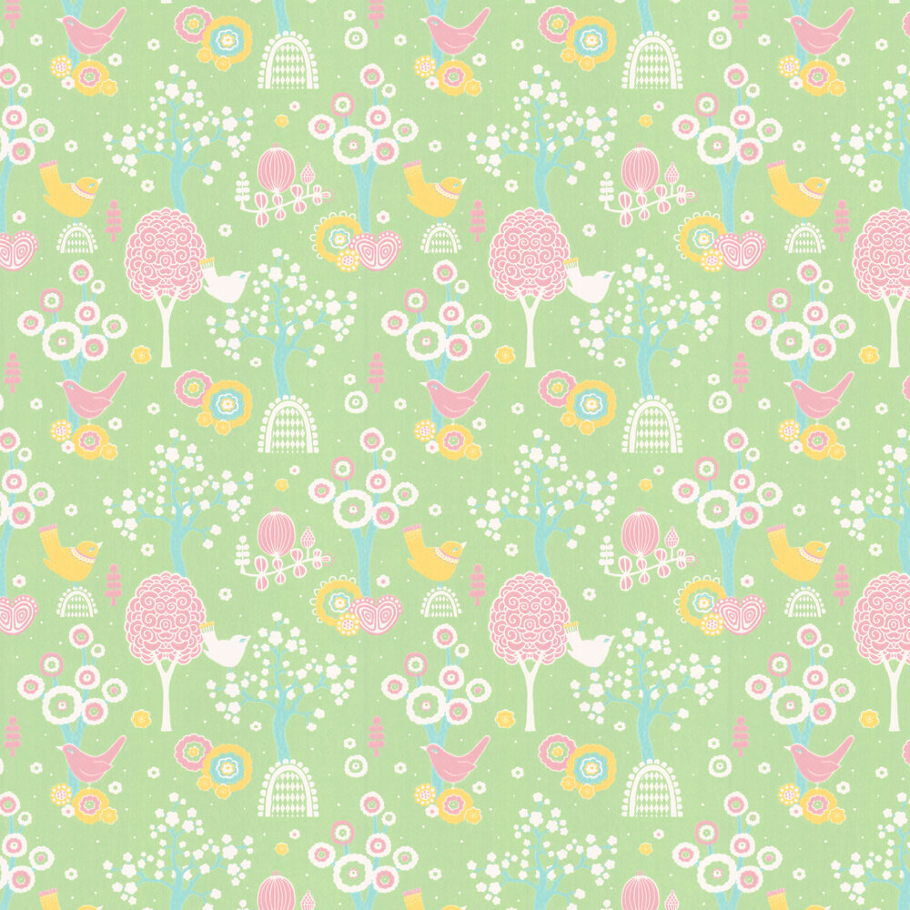Majvillan Cherry Valley Green Wallpaper - Product code: 102-03