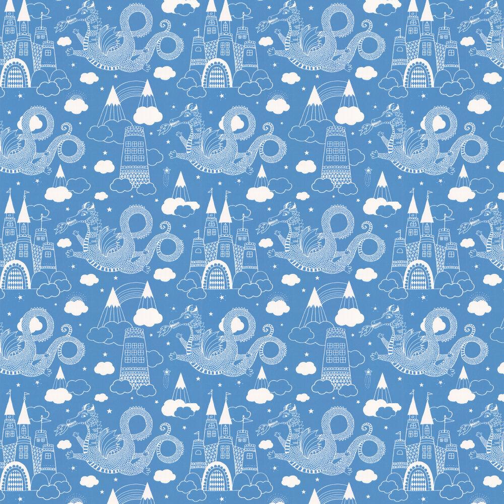 Majvillan Dragon Sky Cornflower blue Wallpaper - Product code: 103-01