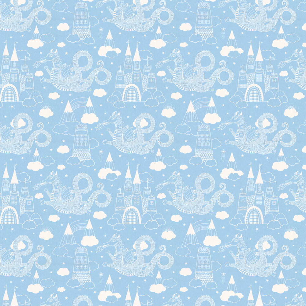 Dragon Sky Wallpaper - Sky Blue - by Majvillan