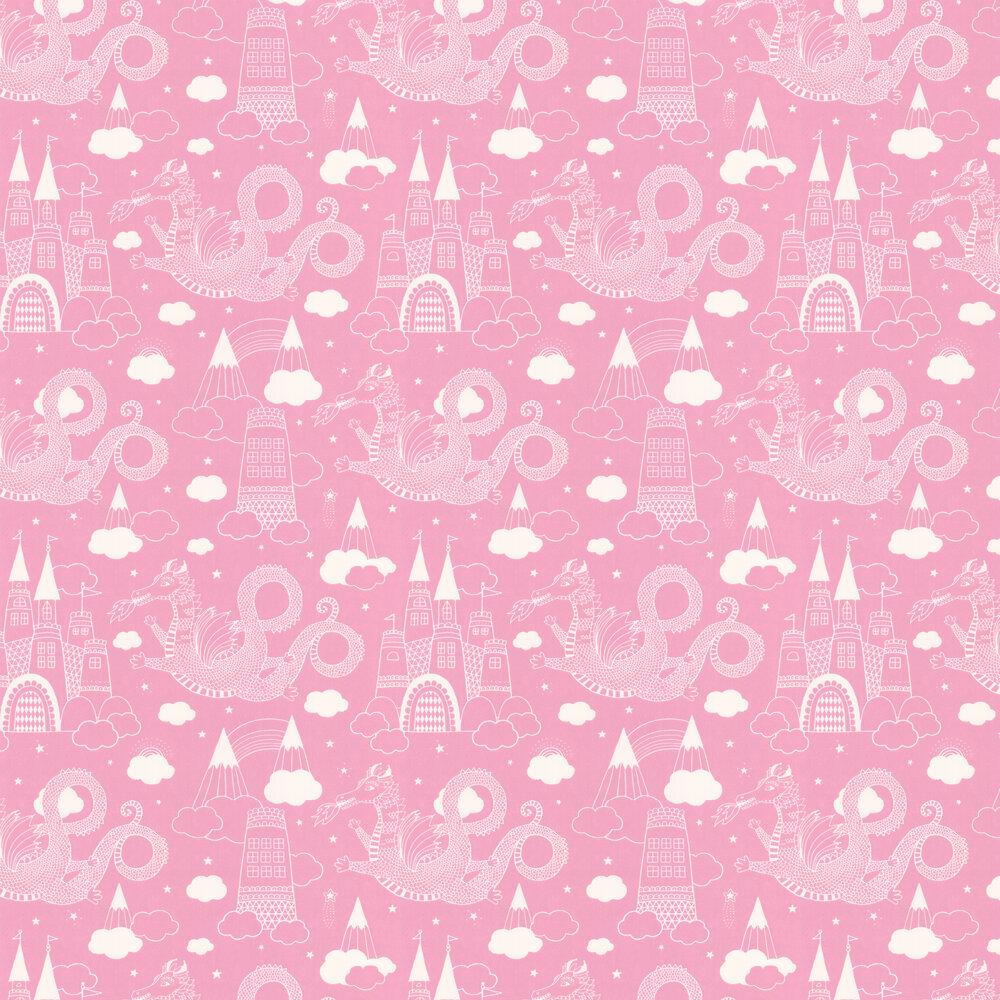 Dragon Sky Wallpaper - Pink - by Majvillan