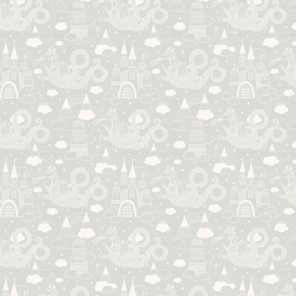 Dragon Sky Wallpaper - Grey - by Majvillan