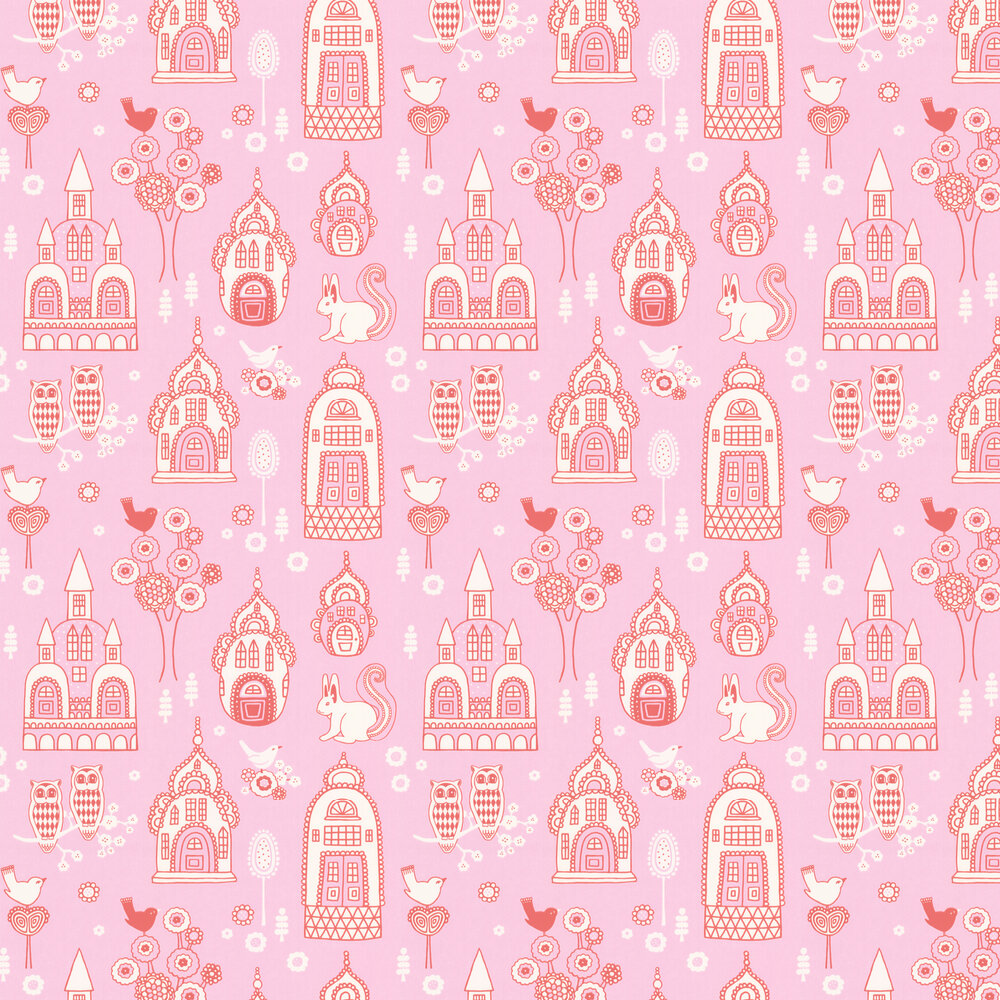 Palace Garden Wallpaper - Pink - by Majvillan