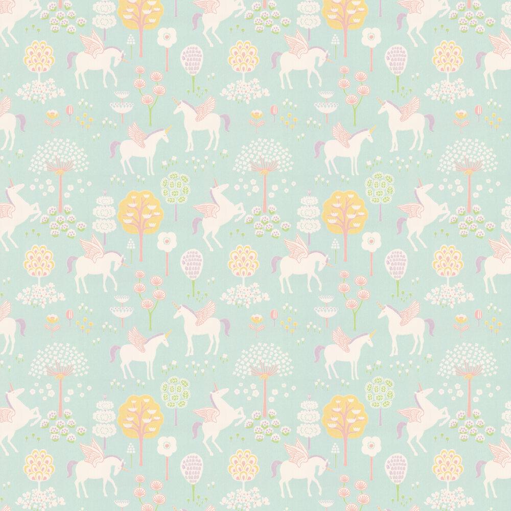Majvillan True Unicorns Turquoise Wallpaper - Product code: 116-02