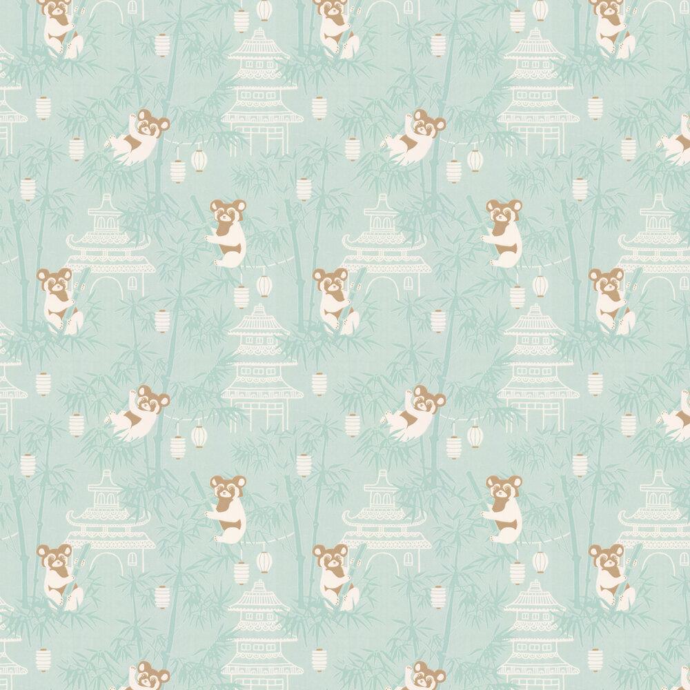 Bambu Wallpaper - Turquoise - by Majvillan