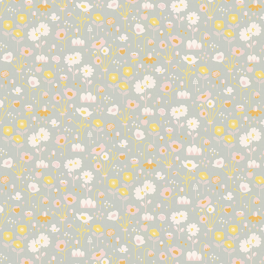 Bloom Wallpaper - Grey - by Majvillan