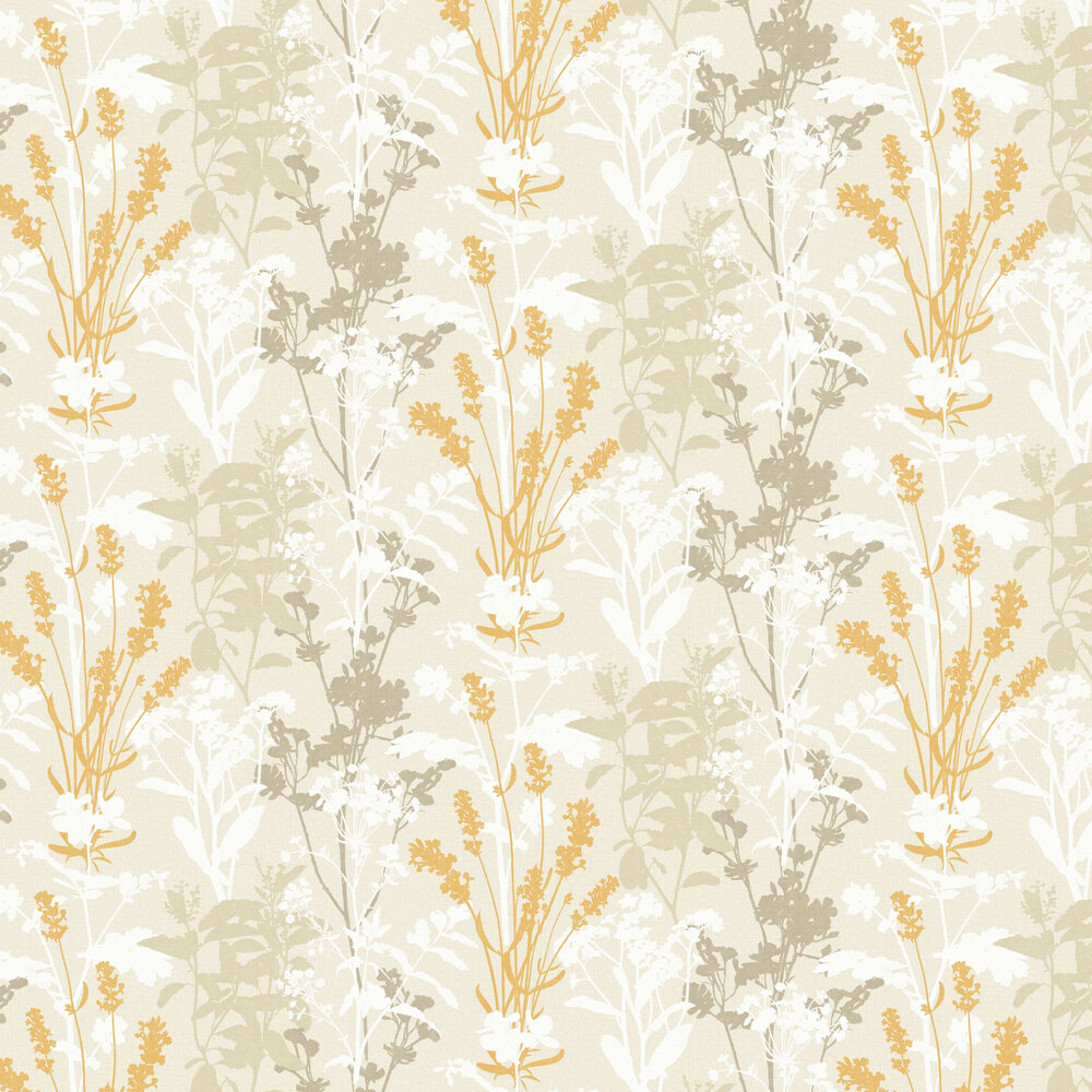Wild Flowers Wallpaper - Mustard - by Albany