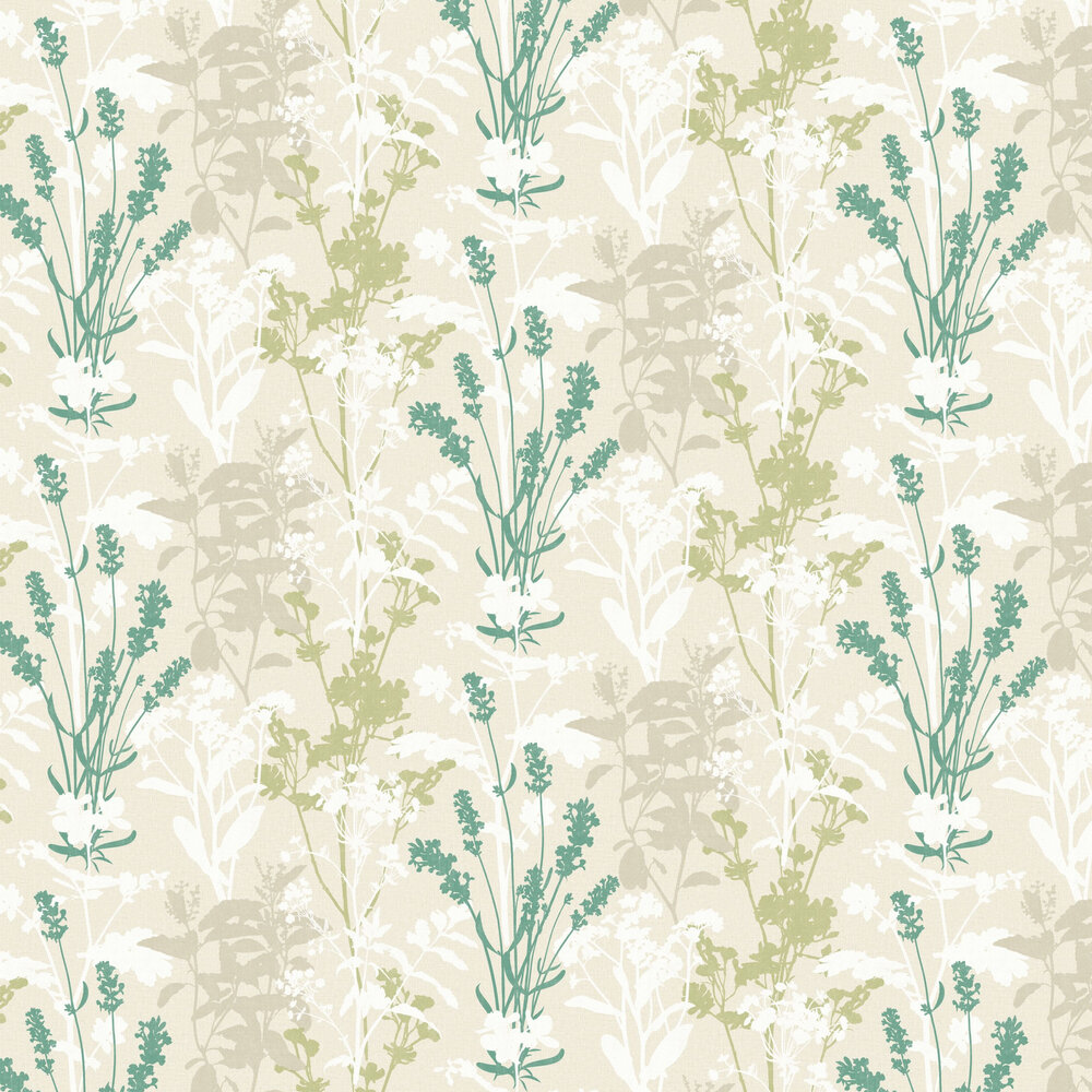 Wild Flowers Wallpaper - Green - by Albany