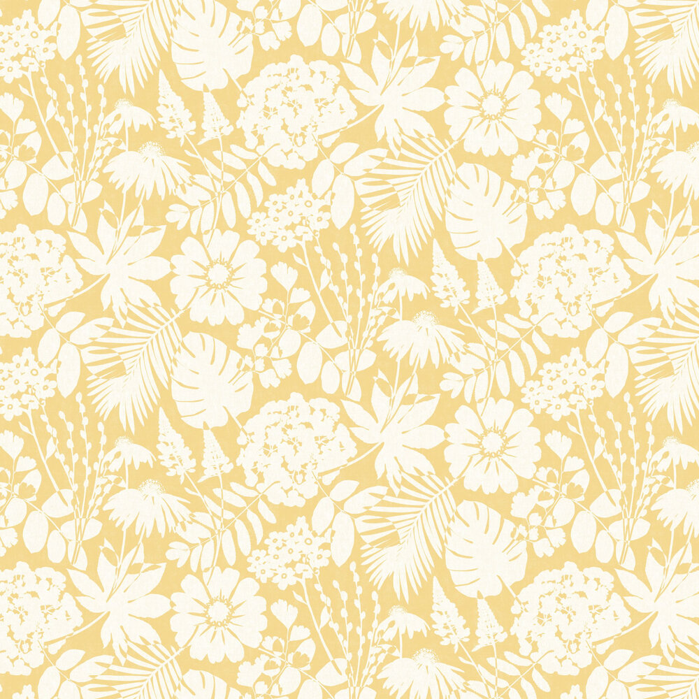 Bold Floral By Albany Mustard Wallpaper Wallpaper Direct
