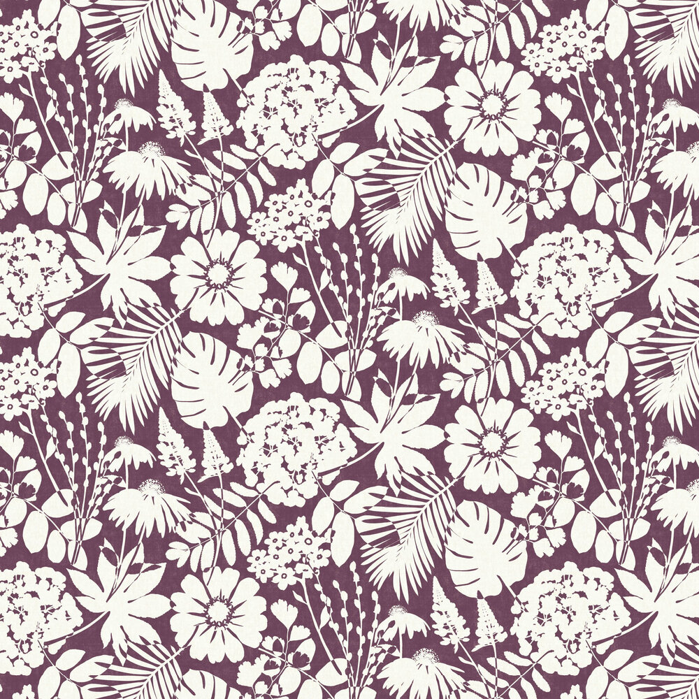 Bold Floral Wallpaper - Berry - by Albany