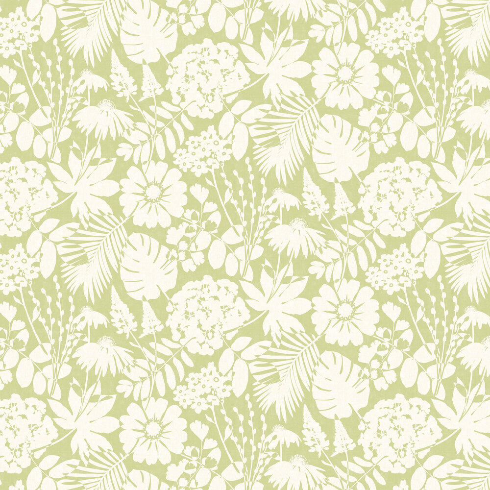 Bold Floral Wallpaper - Green - by Albany