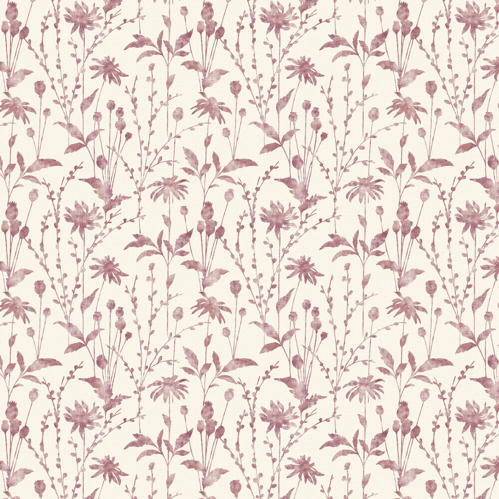 Meadow Wallpaper - Berry - by Albany