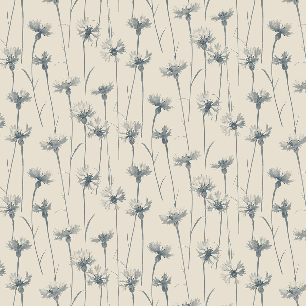 Cornflower Wallpaper - Blue - by Albany