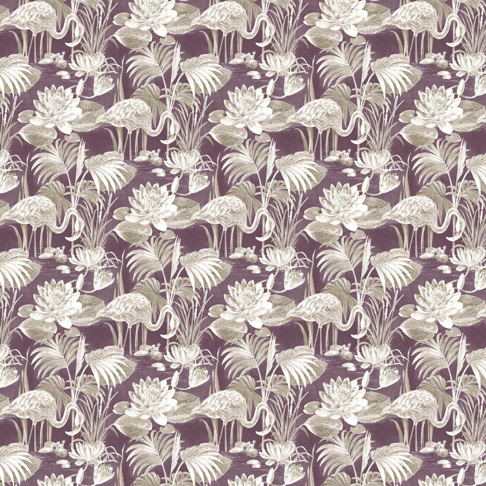 Lagoon Flamingo Wallpaper - Berry - by Albany