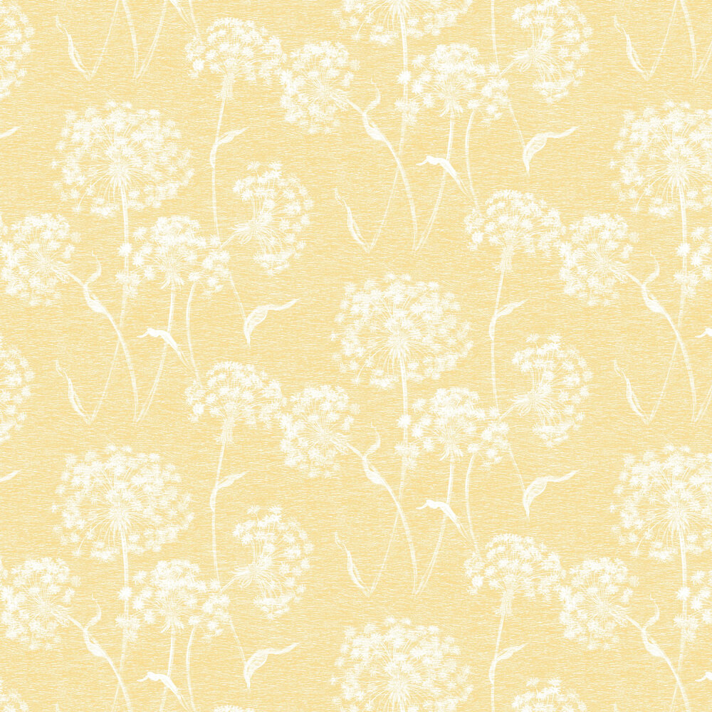 Dandelion Wallpaper - Mustard - by Albany