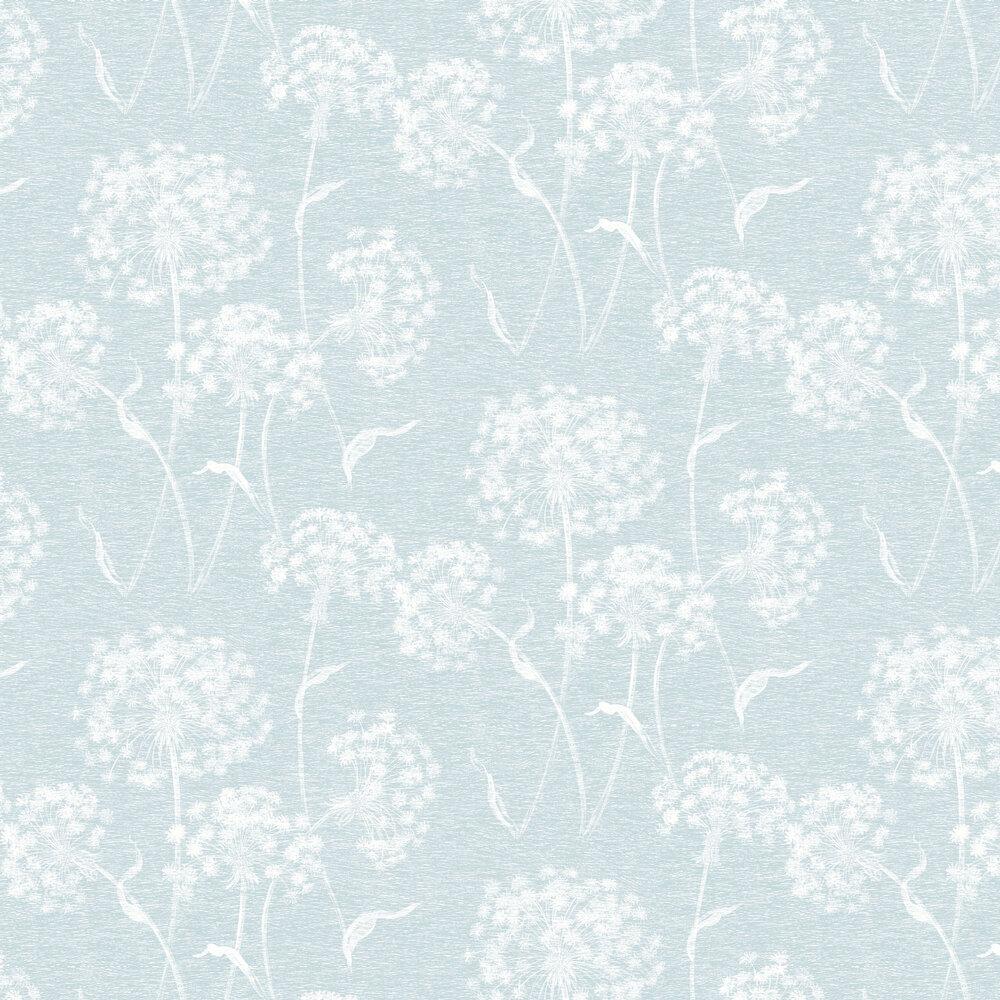 Dandelion Wallpaper - Blue - by Albany