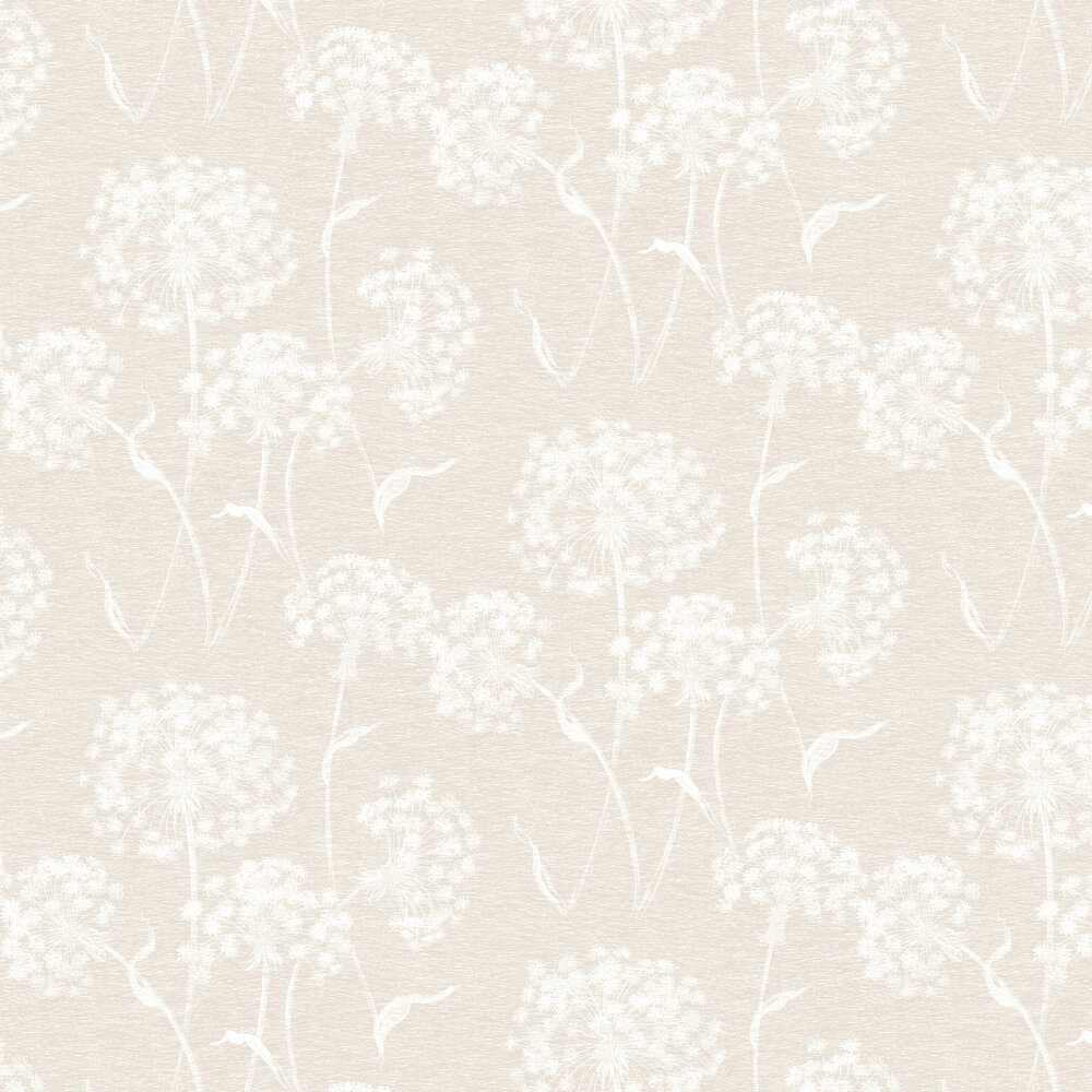 Dandelion Wallpaper - Cream - by Albany