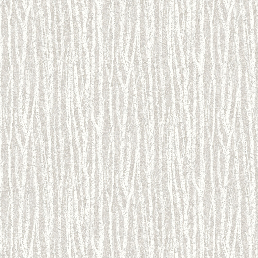 Birch Tree Wallpaper - Taupe - by Albany