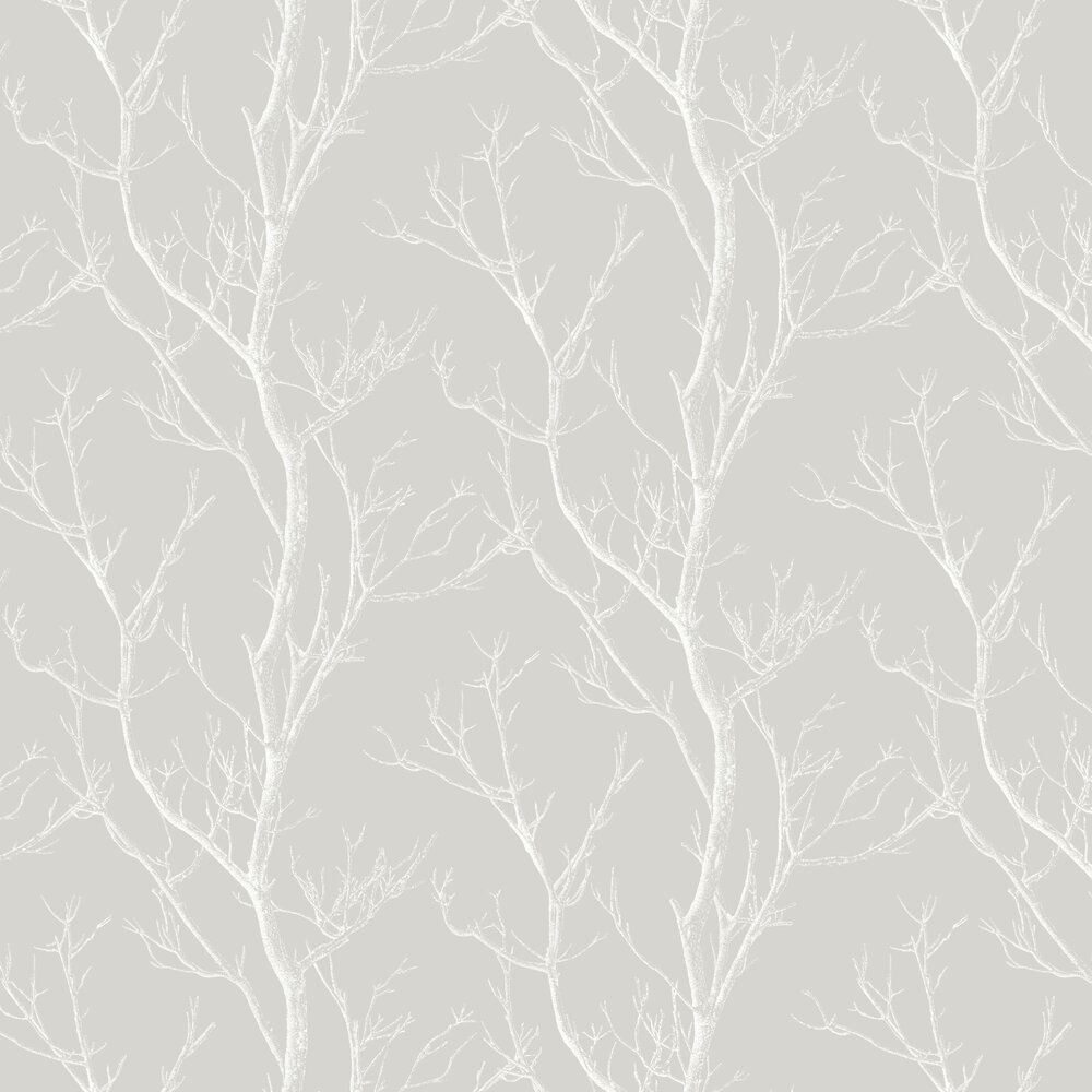 Silhouette Tree Wallpaper - Grey - by Albany