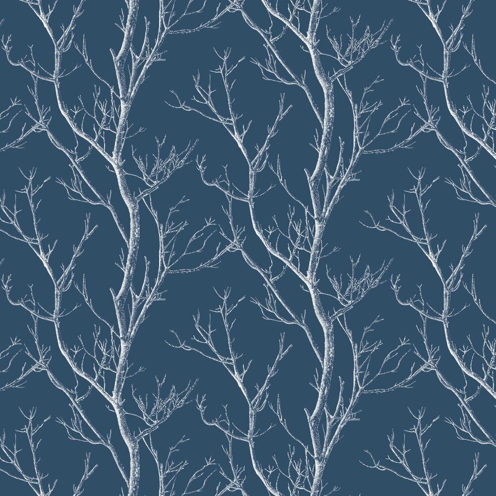 Silhouette Tree By Albany Navy Wallpaper Cb42136