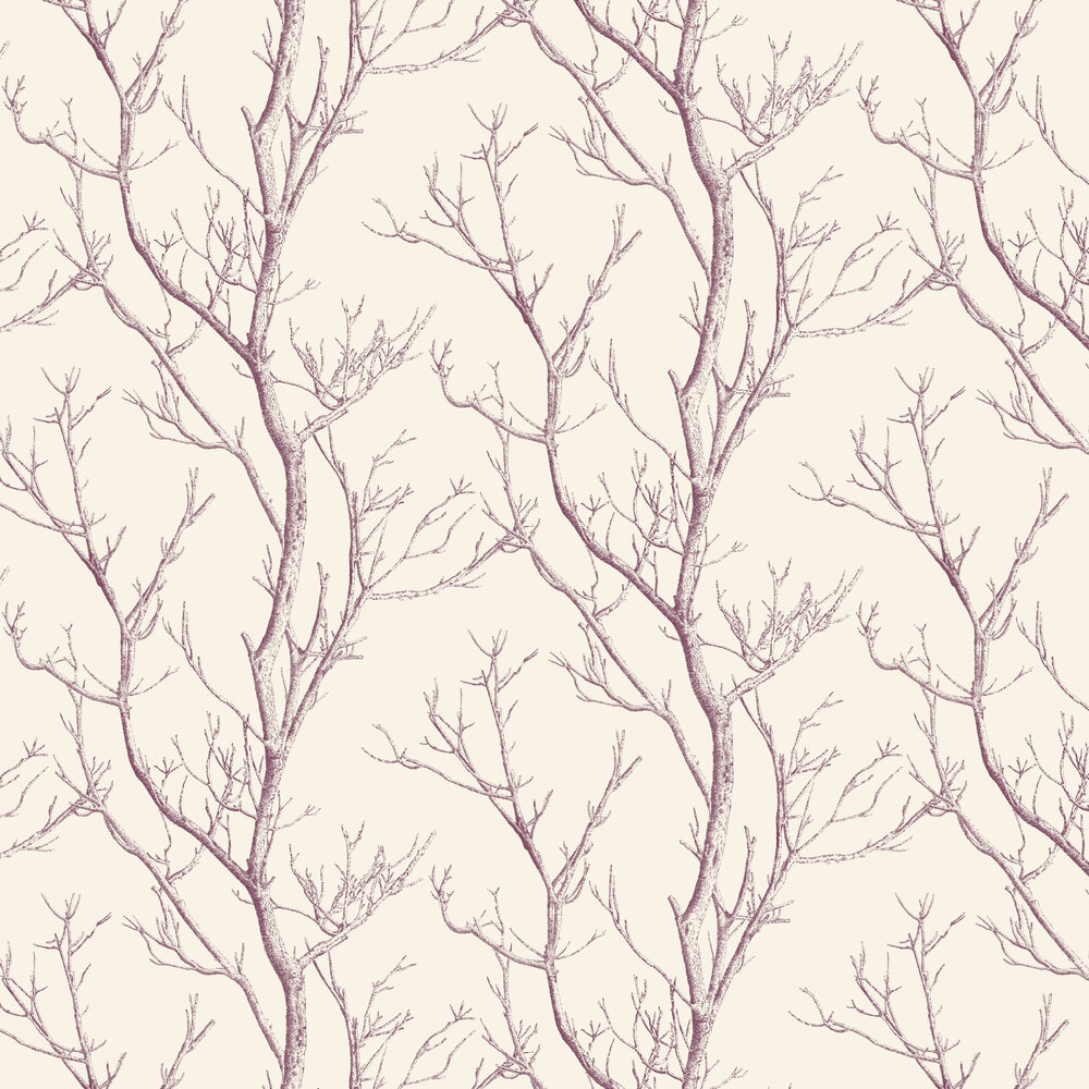 Albany Silhouette Tree Berry Wallpaper - Product code: CB42137