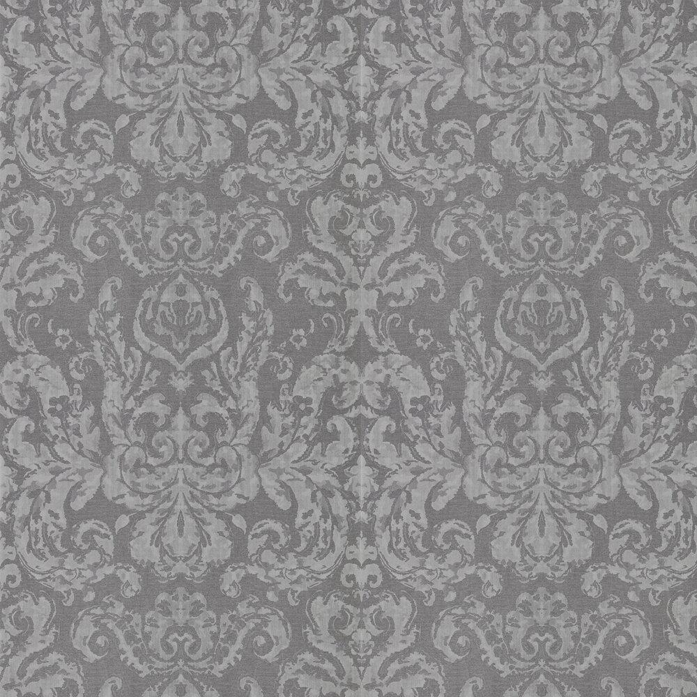 Brocatello Wallpaper - Grey - by Zoffany