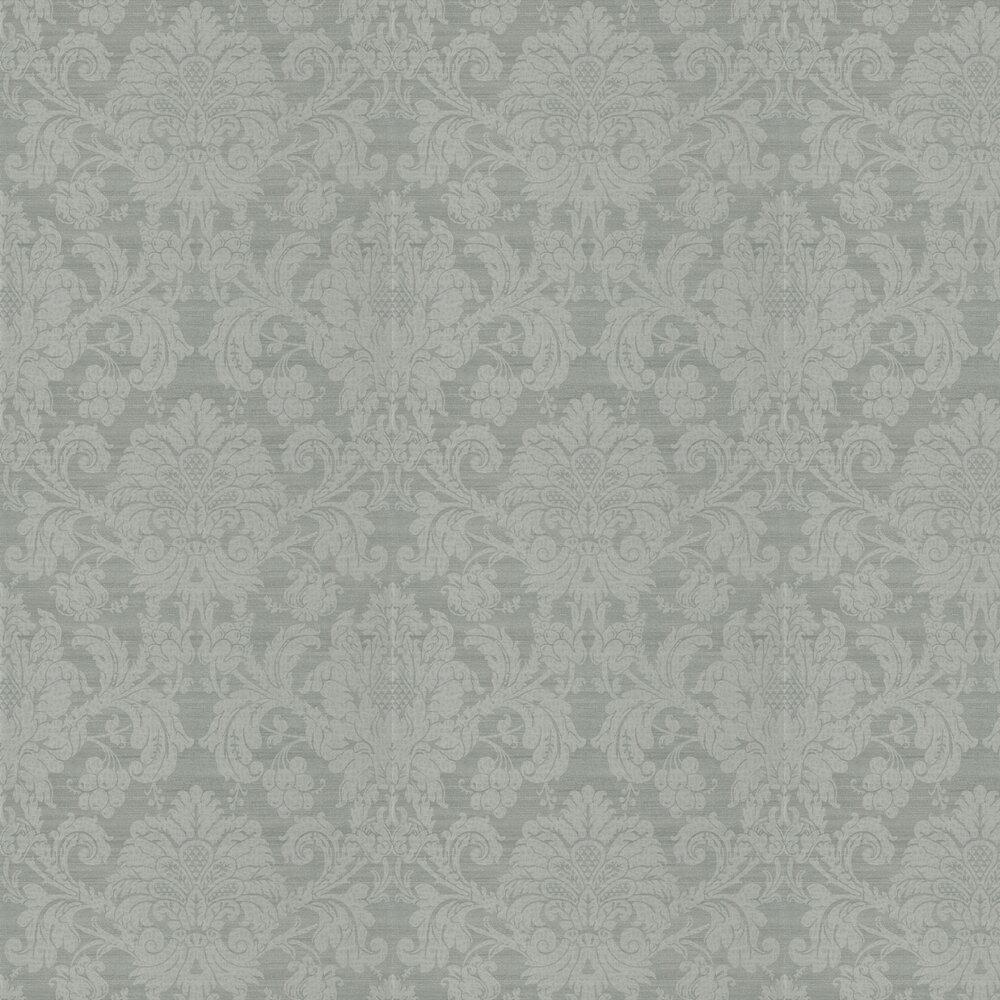 Crivelli Wallpaper - Zinc - by Zoffany