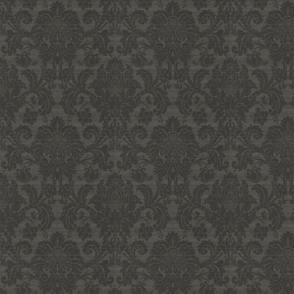 Crivelli Wallpaper - Bone Black - by Zoffany